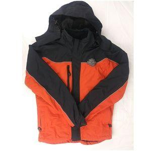 HD Mens Reflective Windbreaker Jacket sz XS